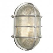 Admiral Solid Brass Large Oval Outdoor Wall Light in a Nickel Finish IP64 - DAVID HUNT ADM2138